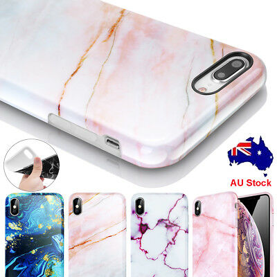 AU6.79 • Buy Marble Pattern Case For IPhone XS Max XR X 7 8 Plus Soft Rubber Shockproof Cover