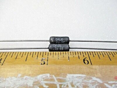 $4 • Buy 0.1 Ohm 2 Watt 5% Wire Wound Resistor (Dale CW-2C)(New Old Stock)(QTY 10 Ea)I512