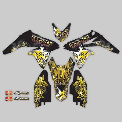 $49.99 • Buy 1999 - 2000 Suzuki Rm 250 Rm250 Graphic Sticker Kit Rockstar : Black Gold Decal