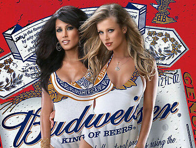 Budweiser Girls, Retro Metal Plaque/Sign Pub, Bar, Man Cave Novelty Gift • 6.05£