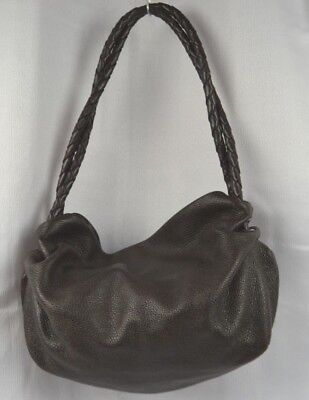 9d82764e42e1 Desmo Italian Slouch Bag With Braided Handles Brown Leather Large Shoulder  Italy • 20.99