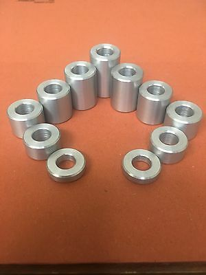 £5.16 • Buy 17MM Dia Aluminum Stand Off Spacers Collar Bonnet Raisers Bushes With M10 Hole