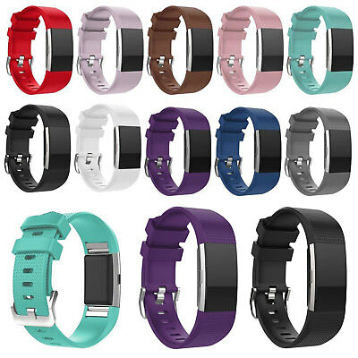 $ CDN7.23 • Buy Premium Soft Replacement Strap Band For Fitbit Charge 2 Secure Buckle Wristband