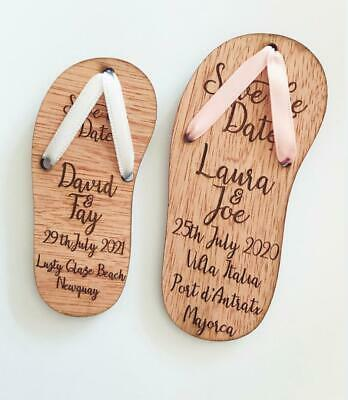 £27.75 • Buy BEACH WEDDING FLIP FLOP Save The Date /  Invite Includes Magnets