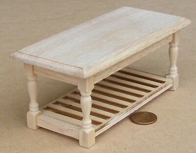 1:12 Scale Natural Finish Wood Kitchen Table Tumdee Dolls House Furniture 071 • 4.85£