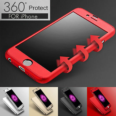 AU7.89 • Buy IPhone 7 6s Plus XS Max XR 360 Full Shockproof Hard Case Cover + Tempered Glass