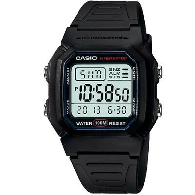 AU36.95 • Buy Casio W-800H-1AV Black Classic 100m Digital Unisex Digital Sports Watch