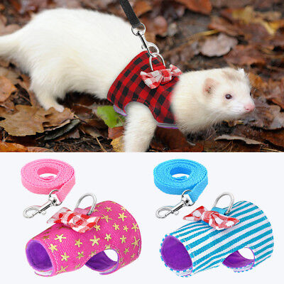 £4.99 • Buy Lead Harness For Small Animals Guinea Pig Ferret Hamster Rabbit Squirrel Clothes