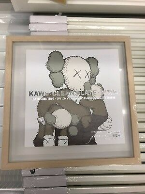 $150 • Buy 2014 HK Harbour City Kaws Clean Slate Artwork Exhibition PRINT With Ikea Frame
