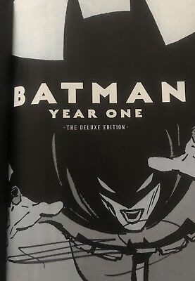 Frank Miller Signed Batman: Year One Deluxe Edition Graphic Novel AFTAL • 159.99£