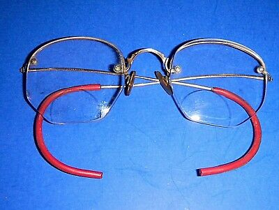 dc78428cf420 Antique SHURON 1 10 12KGold Filled Half-Rim Wire Rim Eyeglasses • 14.00
