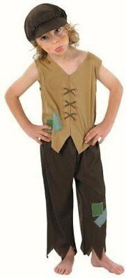 £7.99 • Buy Victorian Poor Boy Worker Urchin Boy Childrens Fancy Dress Costume Outfit 3 4