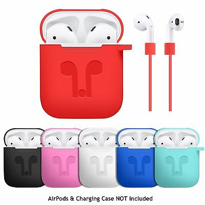 $ CDN5.40 • Buy Case Cover For Apple AirPods + AirPod Strap Silicone Protective Charging Sport