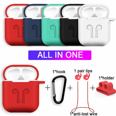 $ CDN7.24 • Buy Strap Holder & Silicone Case Cover For Apple AirPod Air Pod Accessories AirPods