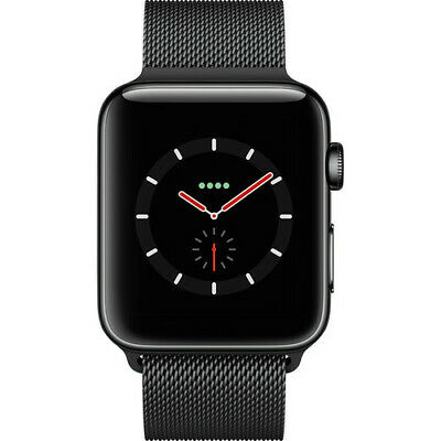 $ CDN659.23 • Buy Apple Watch Series 3 42mm Space Black Stainless Steel Case, Milanese Loop 4G LTE