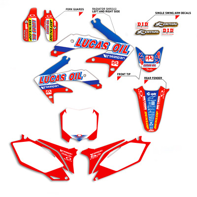 $102.99 • Buy 2004 - 2005 Honda Crf 250 R Graphics 250r Kit Crf250r Lucas Oil With Backgrounds