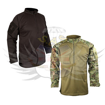 New Kombat Uk Ubacs Tactical Fleece Shirt,black Or Btp Camouflage Pattern • 29.95£
