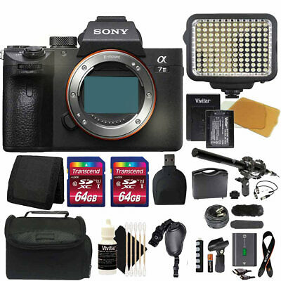 $ CDN2431.69 • Buy Sony Alpha A7 III Mirrorless Digital Camera (Body Only) + 2x 64GB Card Kit
