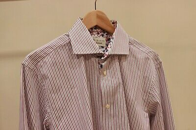 Ted Baker Shirt Men French Cuff Size 16 • 25£