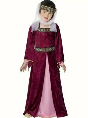 $18.05 • Buy Maid Marion Medieval Fancy Dress Costume Girls Pink Outfit School World Book Day