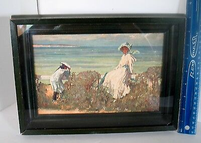 $9.99 • Buy LP17 (M6) Lovely Framed Vintage Victorian Fine Art Reproduction Shadow Box Beach