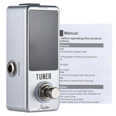 AU33.99 • Buy Mini Chromatic Tuner Pedal Effect LED Display True Bypass For Guitar Bass