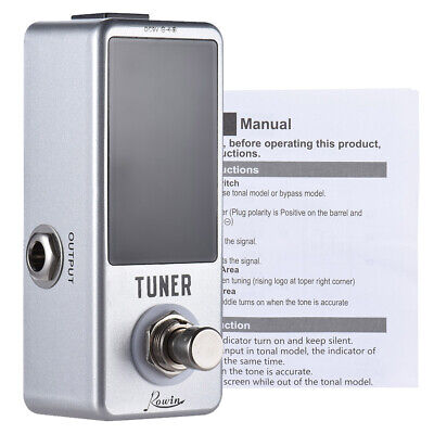 AU32.68 • Buy Mini Chromatic Tuner Pedal Effect LED Display True Bypass For Guitar Bass G4K8