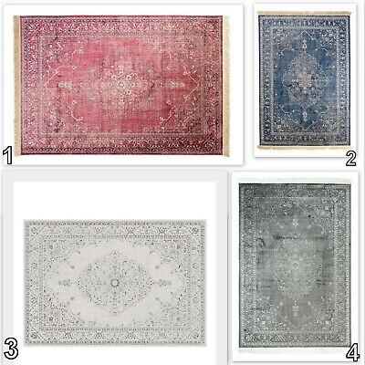 Tapiso Classical Rug Traditional Vintage Design Quality Faded Rosette Carpet • 39.49£