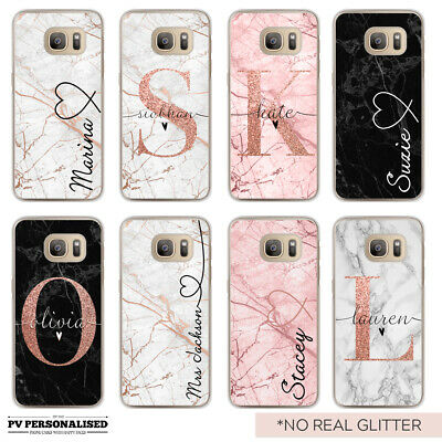 $ CDN10.40 • Buy Initials Name Phone Case Personalised Marble Hard Cover For Samsung Galaxy S8 S9