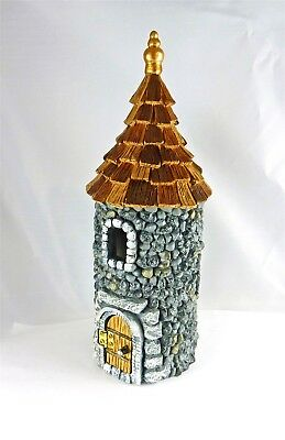 $24.99 • Buy Dollhouse Miniature Fairy Garden Castle W/ Shingled Roof, Opening Door, 17760