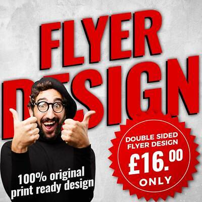 £20 • Buy Bespoke Design Flyer Leaflets Fast Service A5, A6 Double Sided  DESIGN ONLY