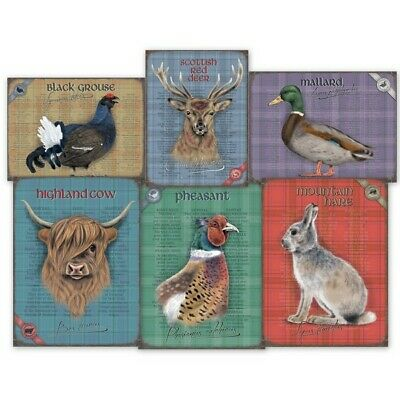 £11.99 • Buy Pheasant Hare Grouse Duck Red Deer Highland Cow Metal Sign 30cm X 40cm