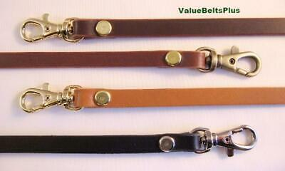 $13.49 • Buy 3/8 In. Skinny Thin Narrow Leather Cross Body Hand Bag Strap - 4 Colors