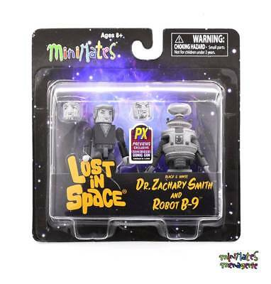 AU17.43 • Buy Lost In Space Minimates Dr. Zachary Smith & Robot B-9 B&W 2-Pack
