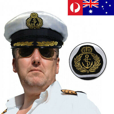 AU13.50 • Buy Sea Sailor Yacht Boat Captain Hat Navy Cap Skipper Costume Party Fancy Dress