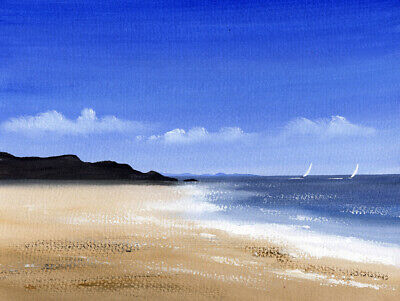 SEASCAPE WATERCOLOUR PAINTING Sarah Featherstone, By The Sea, Coast, Beach, ART • 17.95£