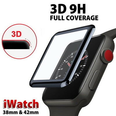 $ CDN6.59 • Buy 3D Full Cover Tempered Glass Screen Protector Film For Apple Watch 38/42/40/44mm