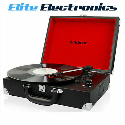 AU109.85 • Buy Mbeat Retro Briefcase Usb Turntable Record Player W/ Speaker Black