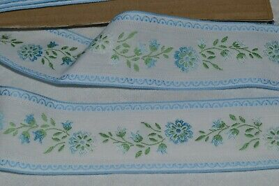 HABERDASHERY OLD/ BRAID EMBROIDERED PATTERNS SMALL FLOWERS 24 M X 50 MM / NEW • 56.94£