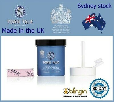 AU26.95 • Buy Town Talk Silver Sparkle Dip Jewellery Cleaner 225ml Jewelry Cleaning!