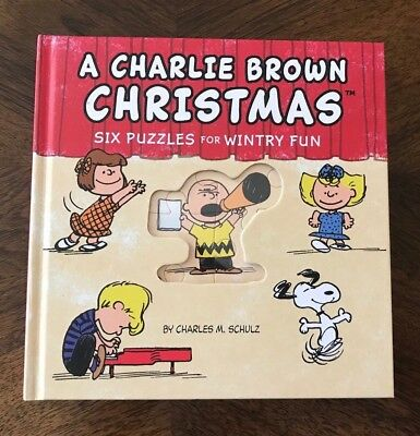 Peanuts ~A Charlie Brown Christmas Hallmark Book W/ 6 Puzzle Pages Each 16 Piece