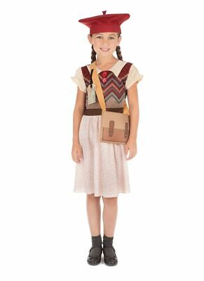 Evacuee Schoolgirl, Small, WW2, Girls Book Week Fancy Dress Costume • 11.50£