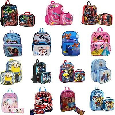 £21.23 • Buy Kids School Bag Backpack With Lunch Bag And Pencil Case Set For Boys/Girls