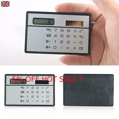 Mini Credit Card Solar Power Pocket Calculator Novelty Small Travel Compact • 3.73£