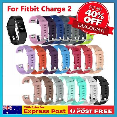 AU6.45 • Buy For Fitbit Charge 2 Bands Silicone Replacement Wristband Watch Strap Bracelet