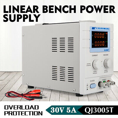 AU103.97 • Buy Adjustable DC Linear Bench Power Supply 4 Digit Display 0-30V 0-5A QJ3005T