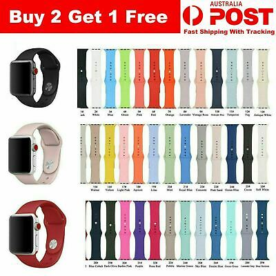 AU5.99 • Buy Apple Watch IWatch 39 Colours Series 4/3/2/1 338/42mm Sports Silicone Wrist Band