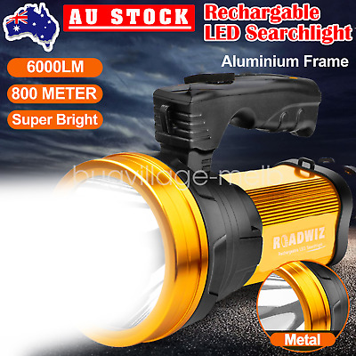 AU32.39 • Buy Handheld LED Searchlight Rechargeable Flashlight Torch Camping Hiking Light Lamp
