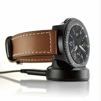 AU19.95 • Buy For Samsung Gear S3 Classic / Frontier Qi Charging Dock Cradle Charger +USB Cord