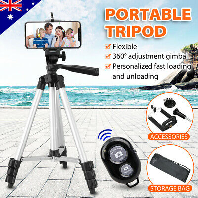 AU18.75 • Buy Professional Camera Tripod Stand Mount + Phone Holder For Phone IPhone Samsung